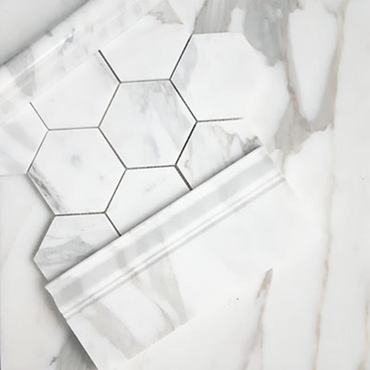 https www carraratiles com 4 inch hexagon calacatta gold marble