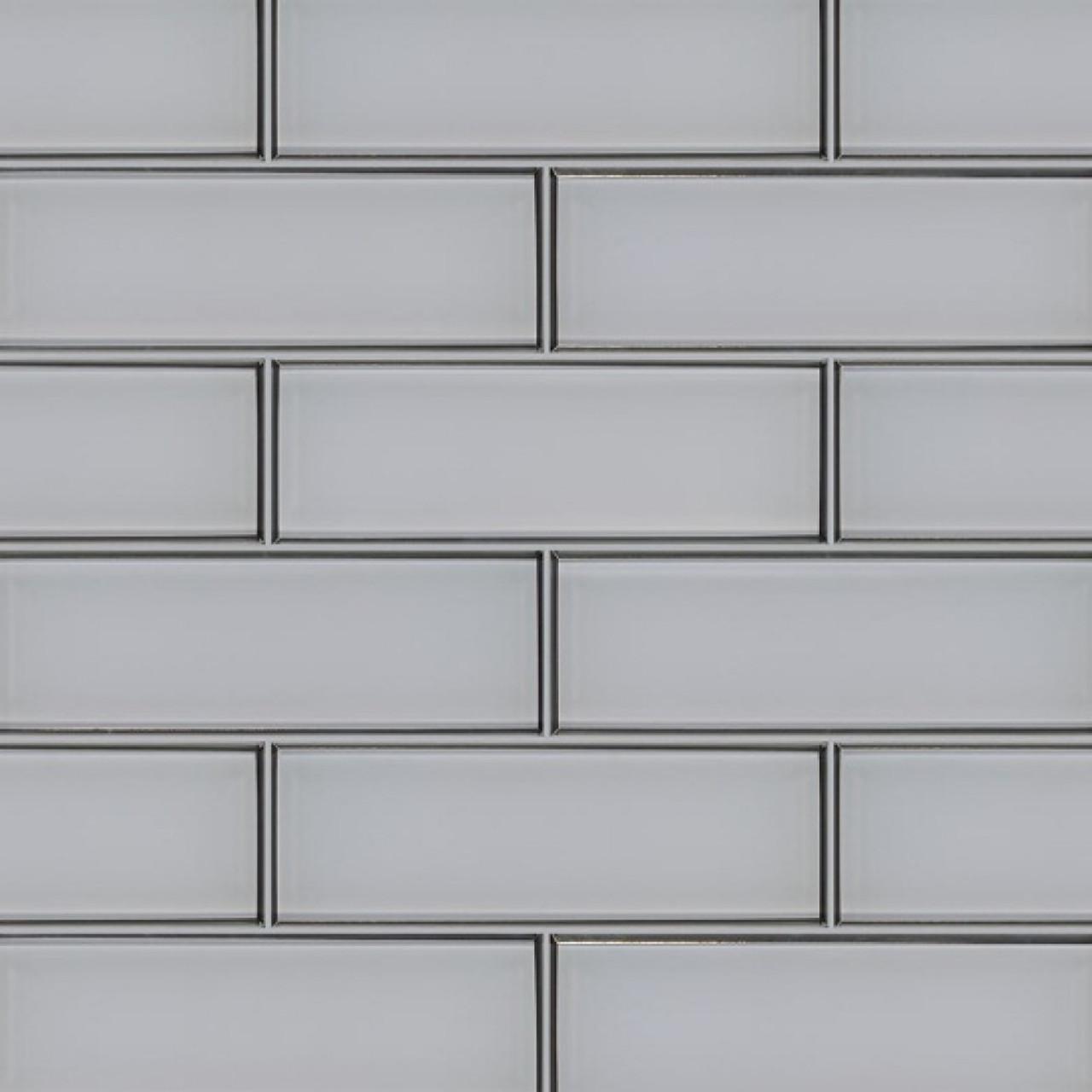 ms international backsplash series ice bevel 4x12 glossy glass subway tile smot gl t icebe412