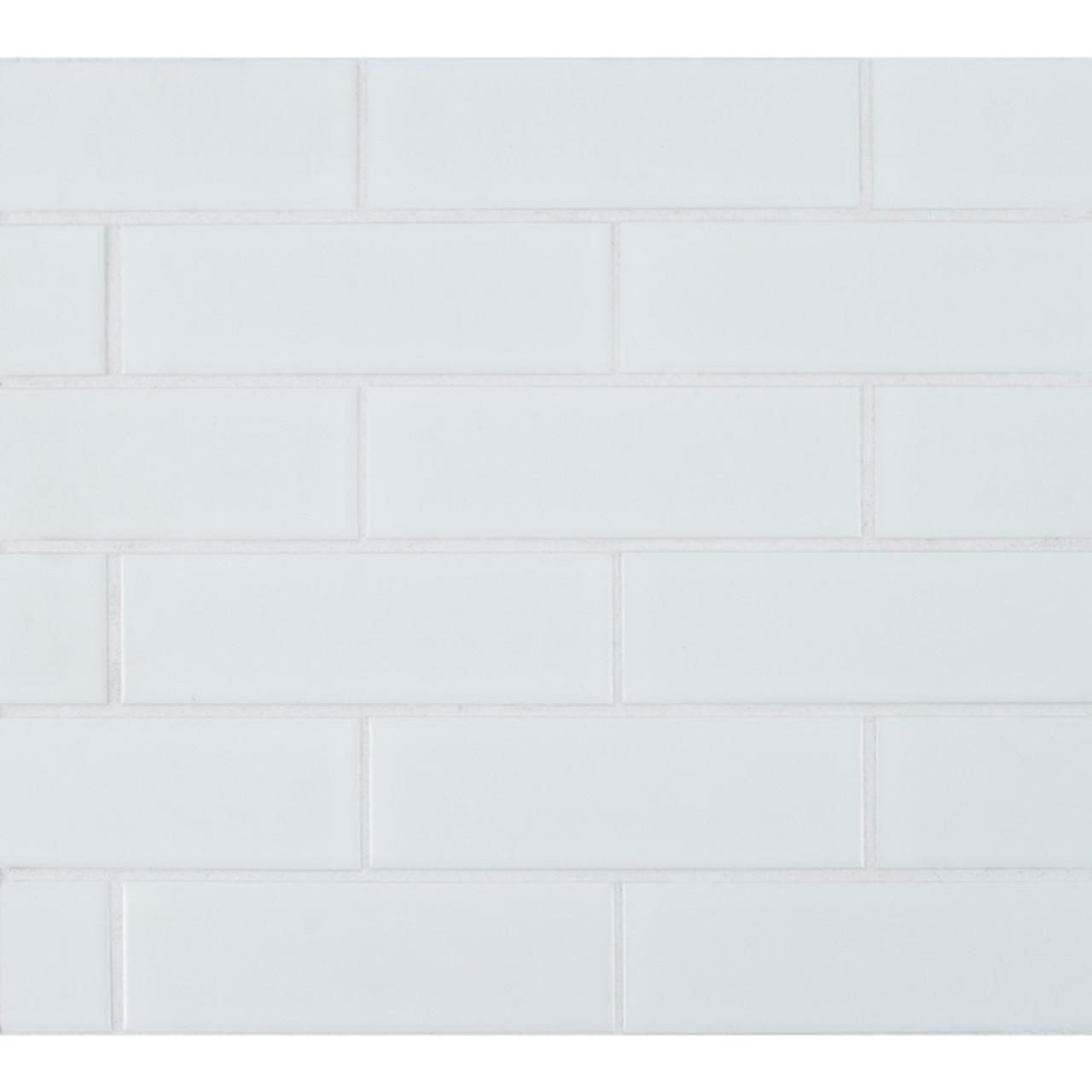 ms international backsplash series retro brick bianco 2x6 matte subway porcelain tile smot pt retbia 2x6