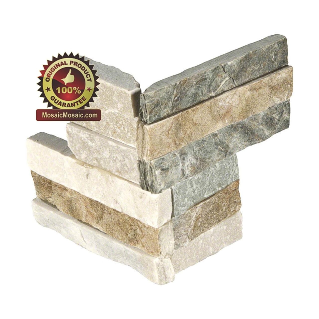 ms international golden honey ledger corner 6 x 18 natural slate wall tile lpnlqgldhon618cor