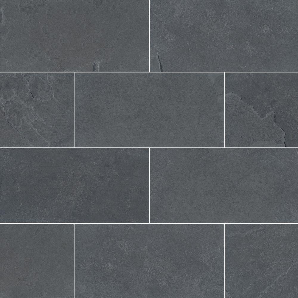 ms international backsplash series montauk black 3x6 gauged subway tile smonblk36g