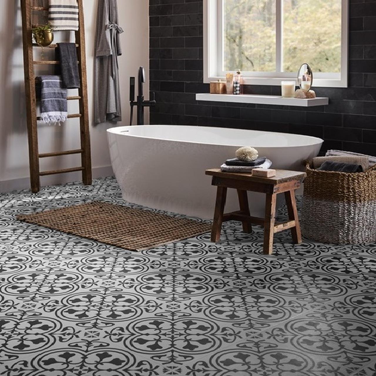 luxury vinyl tile the best bathroom floor