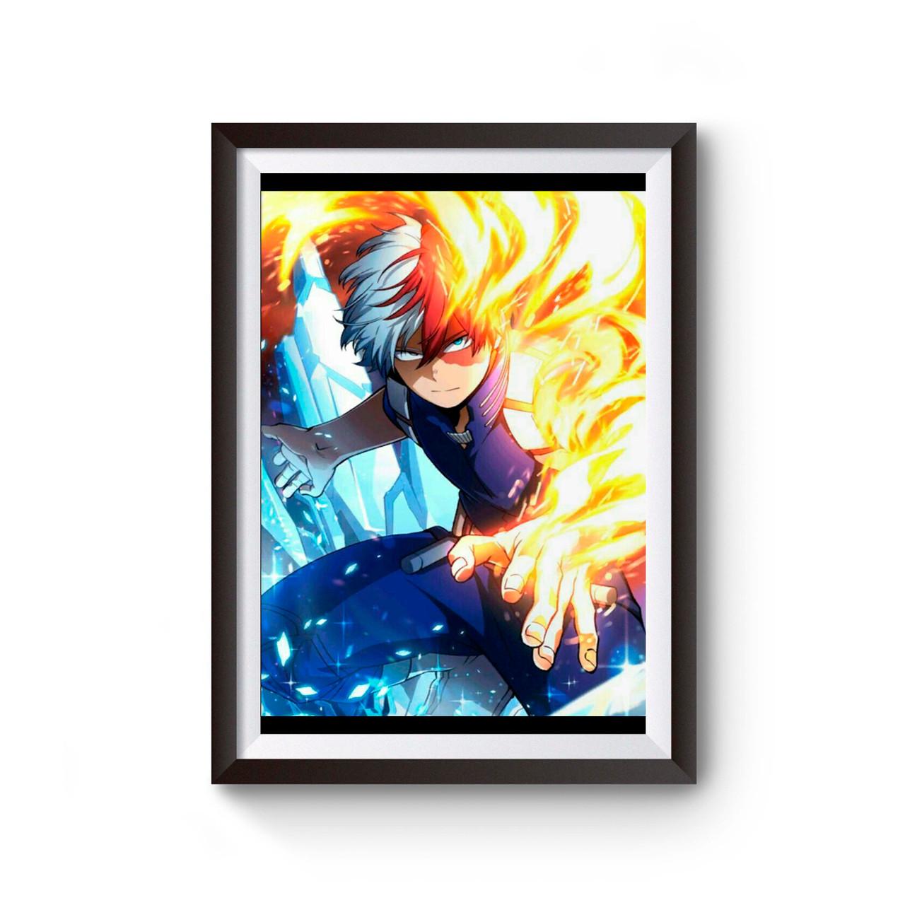 todoroki shoto my hero academia poster