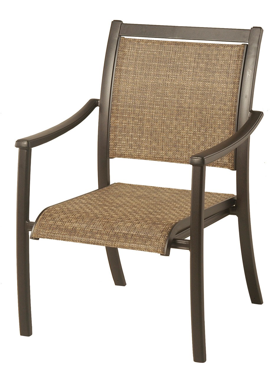 stratford sling dining chair by hanamint