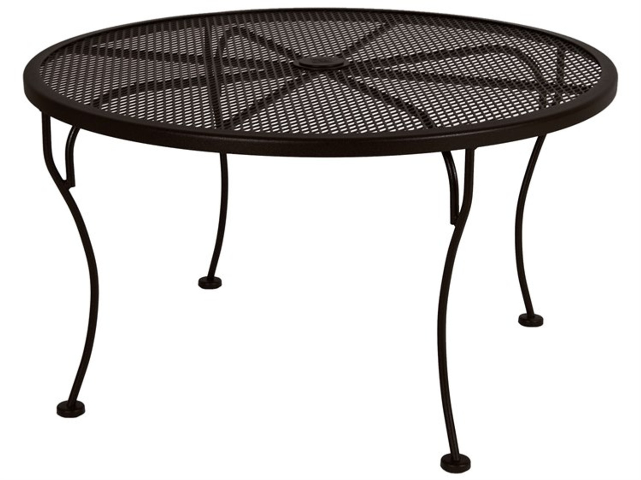 micro mesh round 36 coffee table with 1 625 umbrella hole by ow lee
