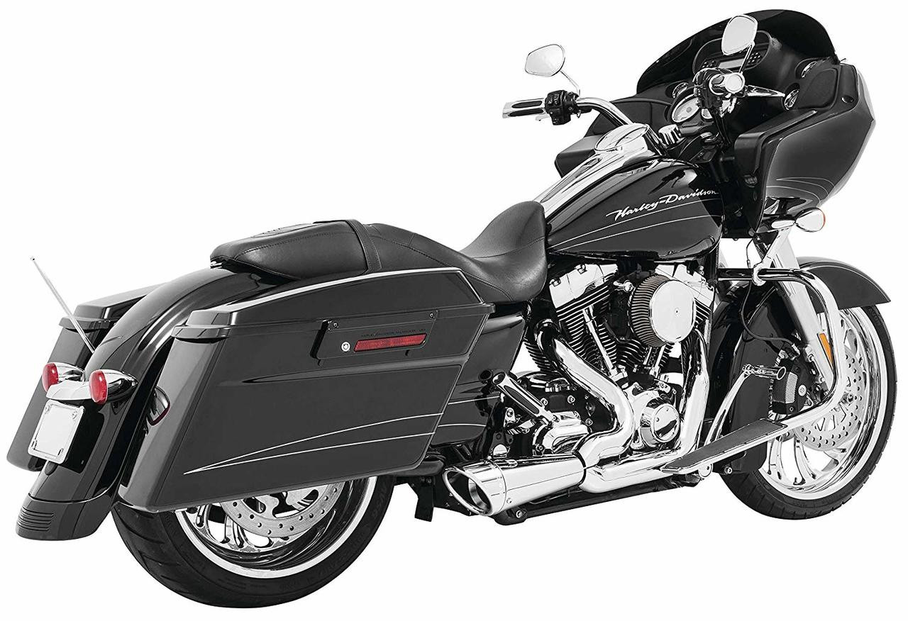 freedom performance hd00851 chrome 2 into 1 combat shorty harley touring 17 19