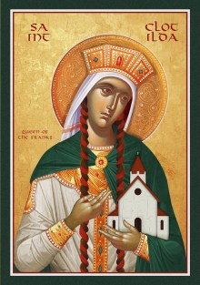 Icon of St. Clotilda Queen of the Franks - (1CL55) - Uncut ...