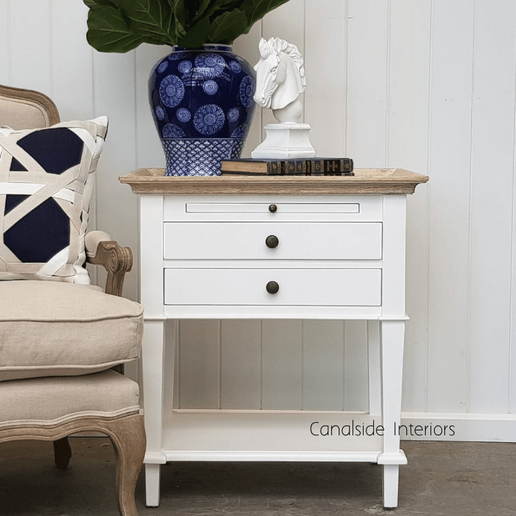 butler side table bedside white with limewash top clearance sale sold out