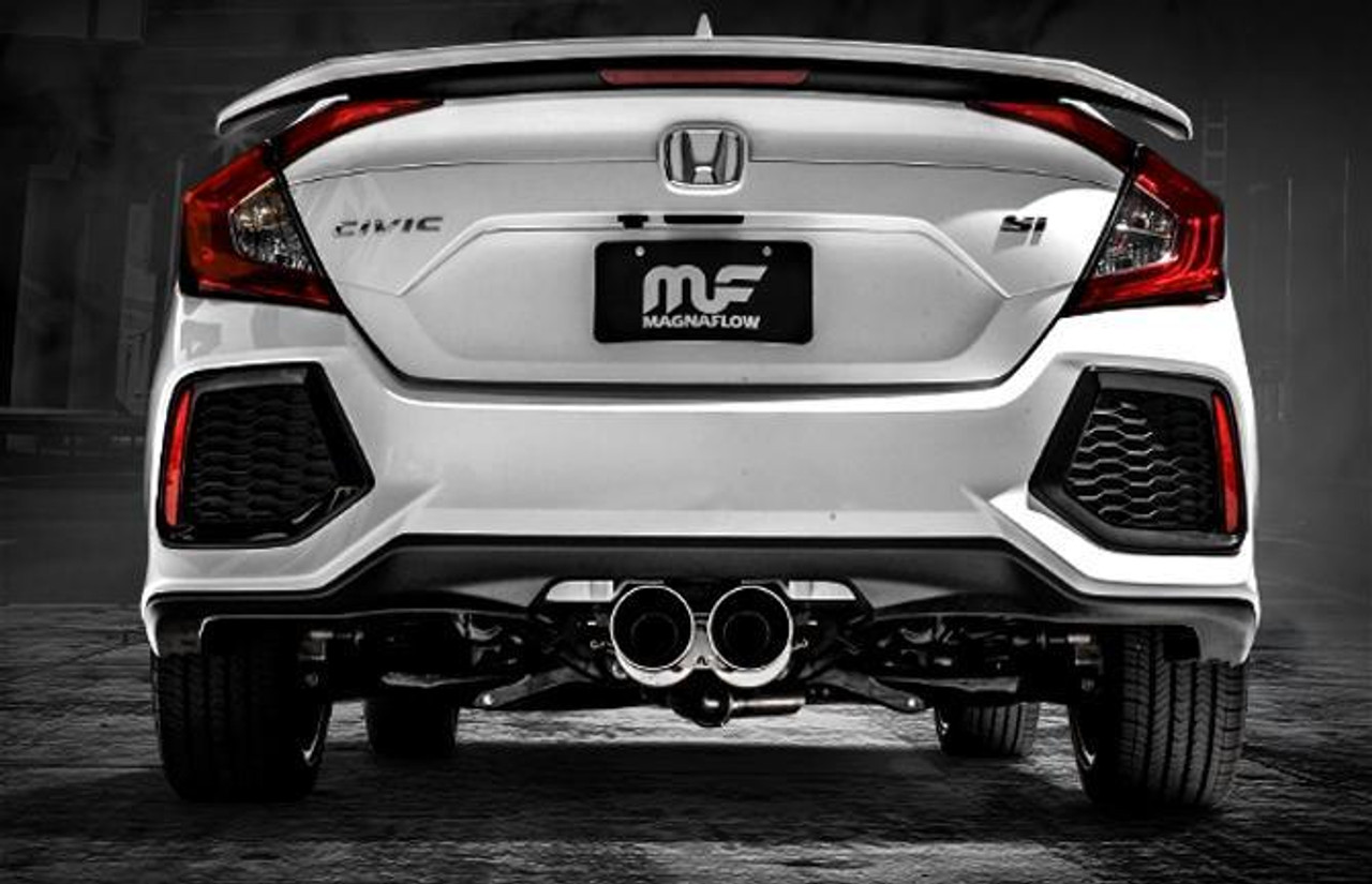 magnaflow 2017 2019 honda civic si sedan 1 5l turbo exhaust single exit