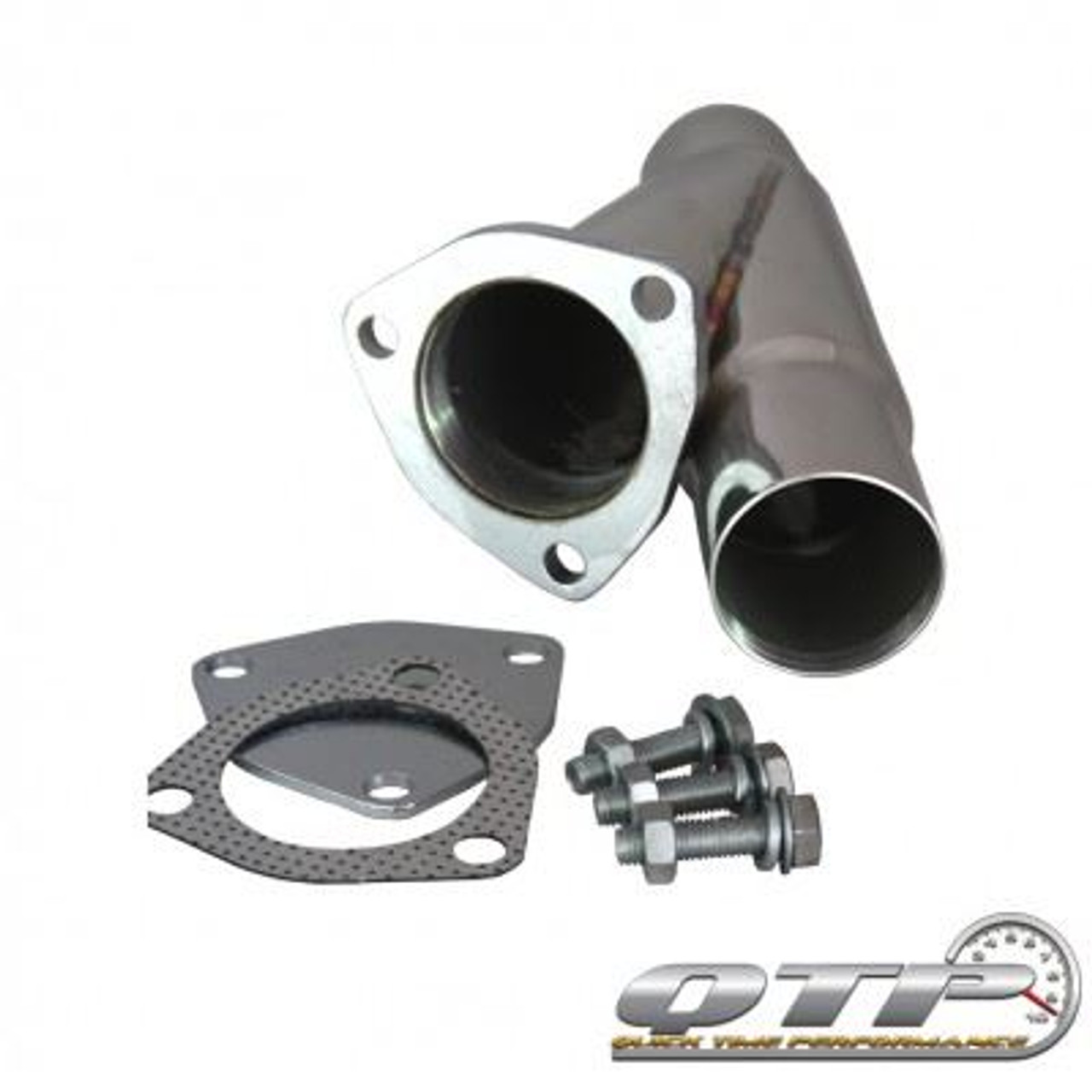 qtp 10225 2 25 2 1 4 stainless steel exhaust cutout y pipe with cap