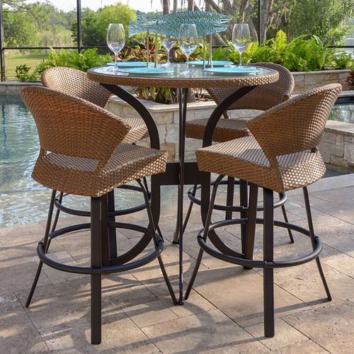 empire outdoor wicker 30 round counter height table
