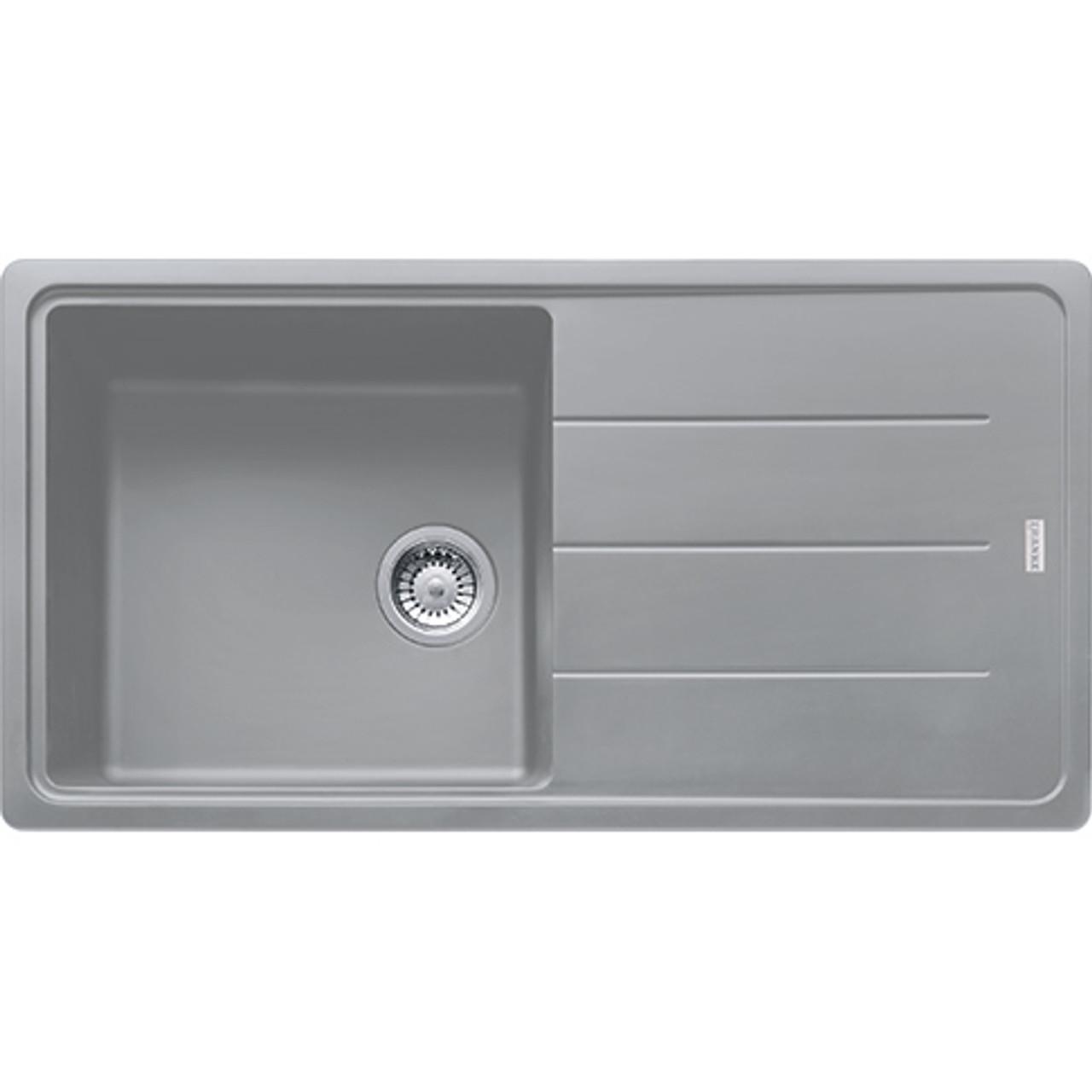 franke basis bfg611 970 reversible fragranite stone grey kitchen sink