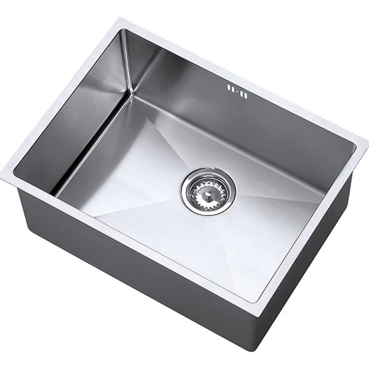 1810 zenuno15 550u deep single kitchen sink bowl