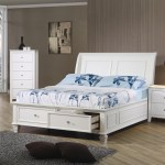 Selena White Wood Platform Storage Bed Twin And Full Size