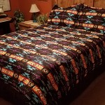 4 Pc Southwest Comforter Set Black King Mission Del Rey Southwest