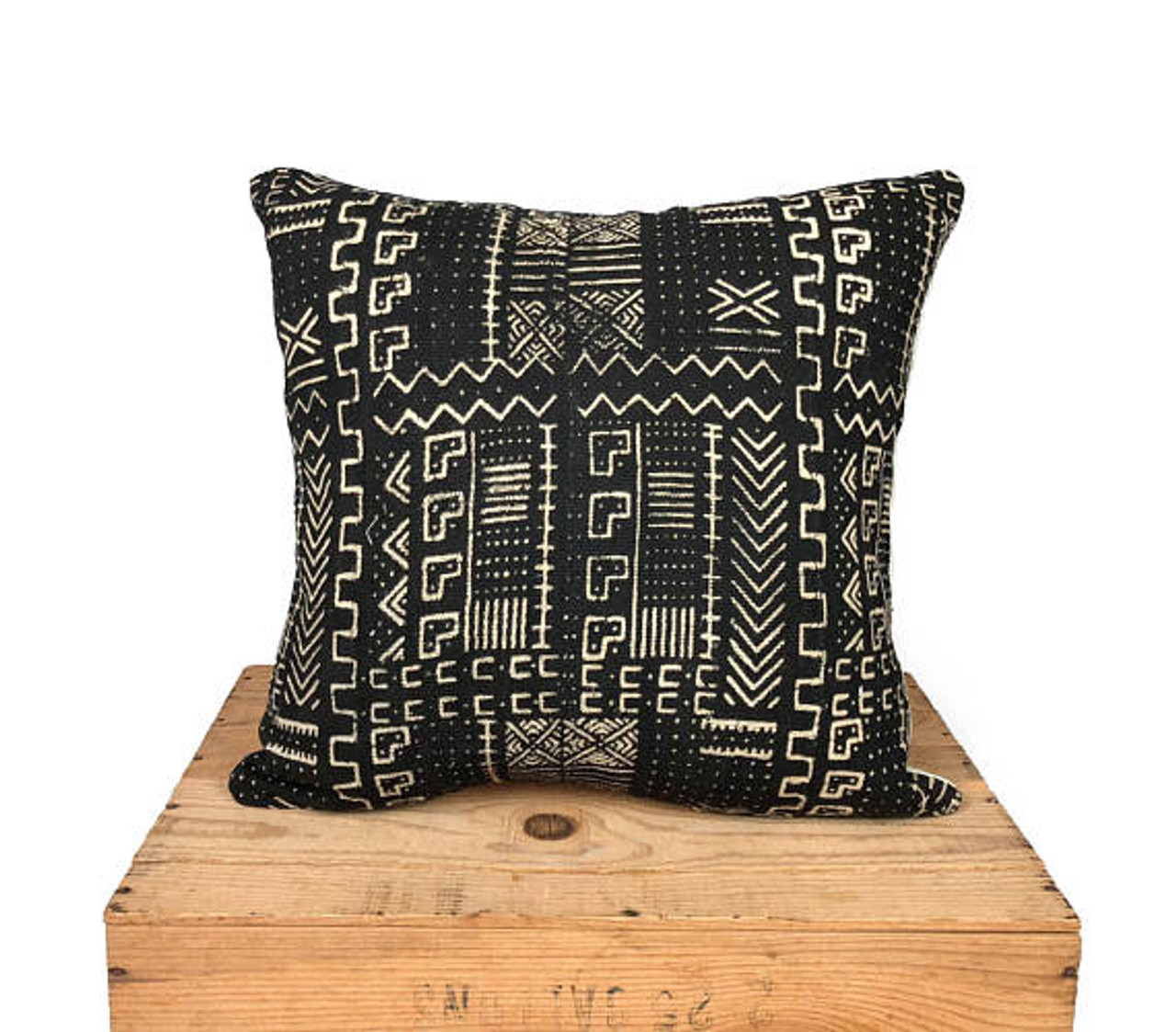 mudcloth pillow cover african mud cloth authentic mud cloth pillow black white grayson