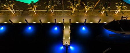 west palm beach dock lighting project
