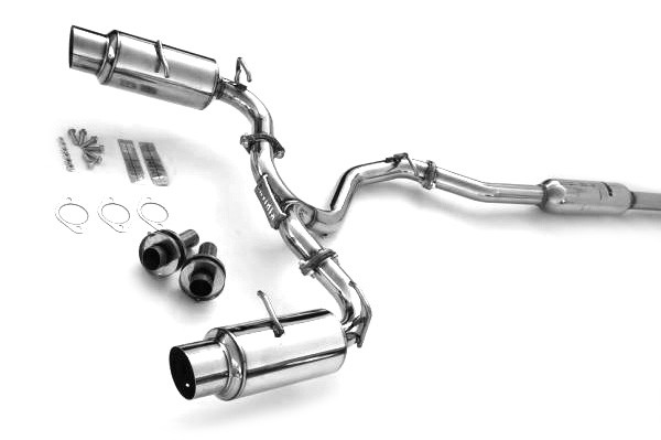 invidia cat back exhaust n1 version with dual mufflers ss single exhaust tip for 2013 17 subaru brz 13 16 scion frs