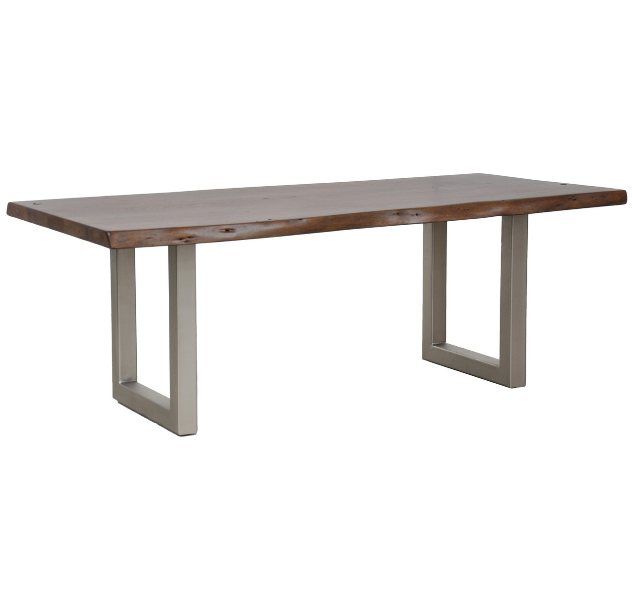 montana solid wood metal leg dining table 94