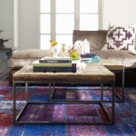 Mosaic Reclaimed Wood And Metal Square Bunching Table Zin Home