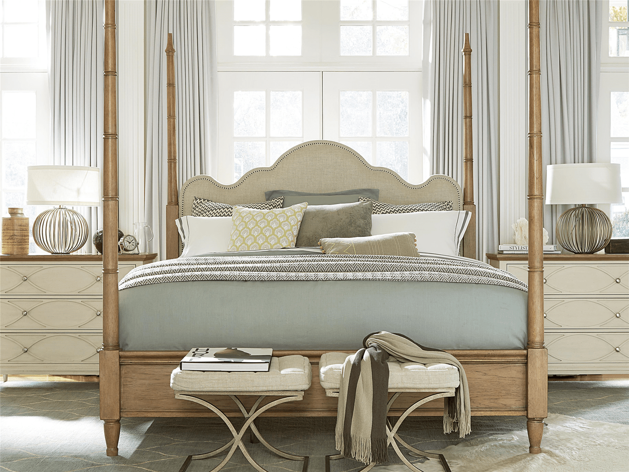 french modern queen poster bed frame