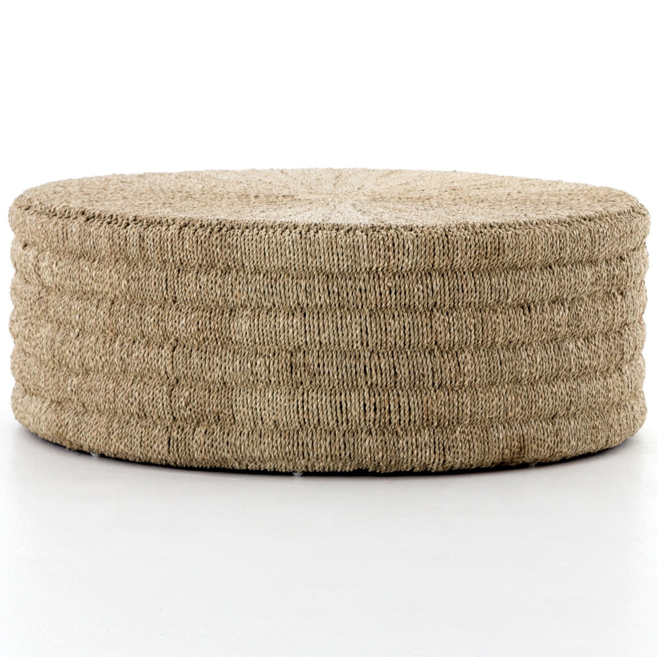 pascal woven round coffee table ottoman