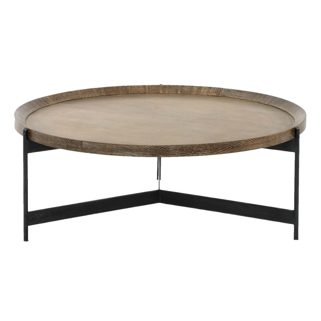 nathaniel brass and oak round tray coffee table 40