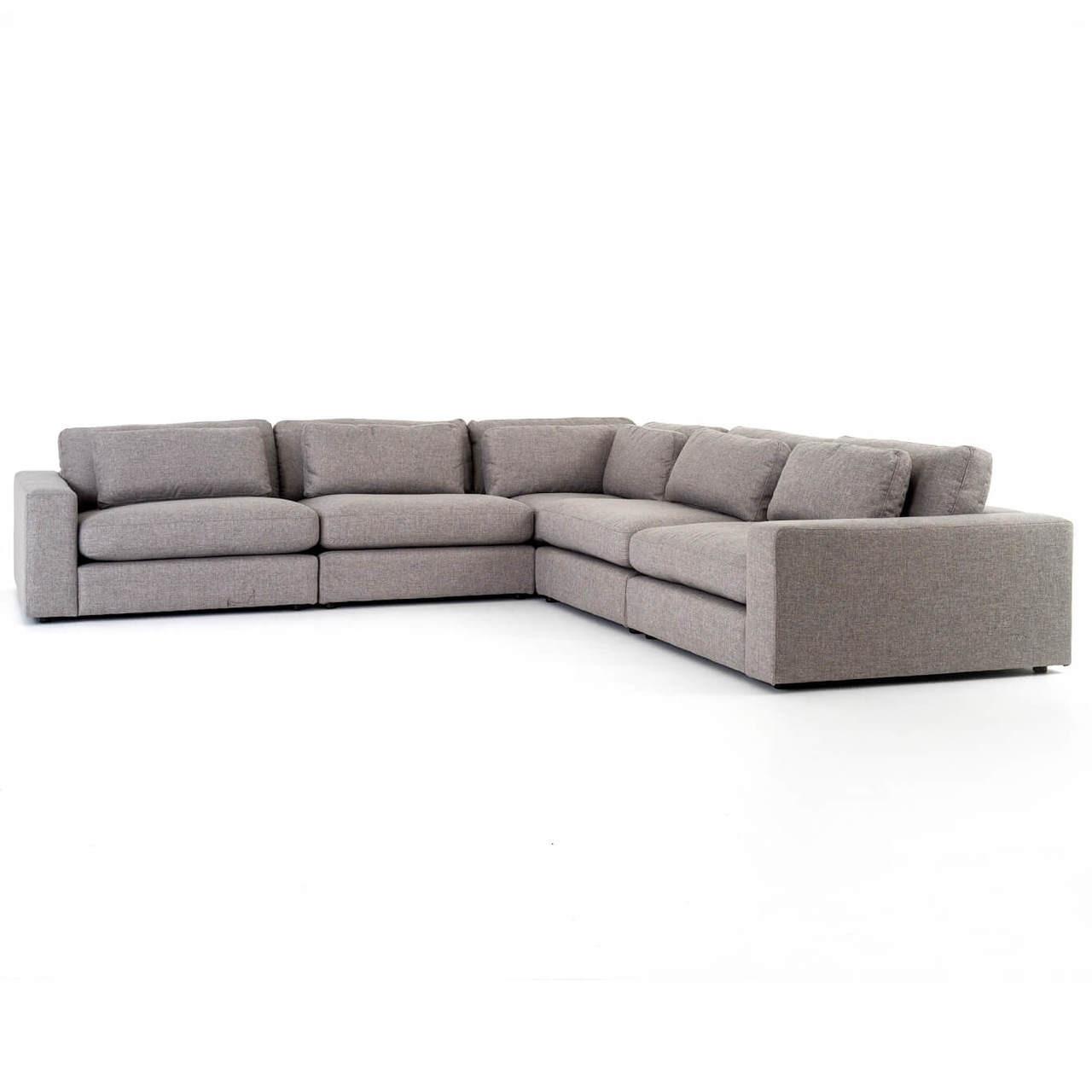 bloor contemporary gray 5 piece corner sectional sofas 131