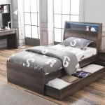 King Single Keswick Bed With Matching King Single Trundle Bed Charcoal Oak My Furniture Store Furniture And Bedding Super Store Australia