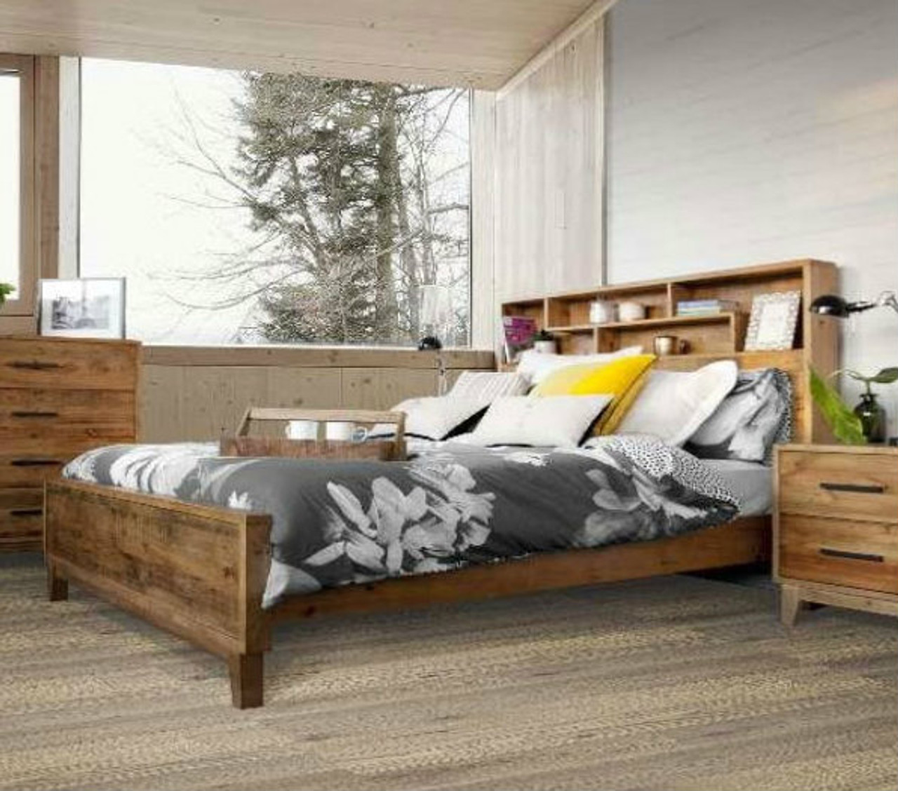 king antarctica bed with bookcase