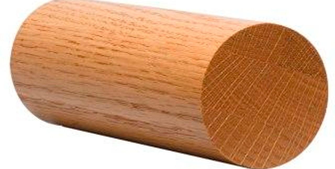 2 Inch Full Round Wood Handrail | 2 Inch Round Wood Handrail | Stair Parts | Outside Diameter | Stair Treads | Handrail Brackets | Oak Wood