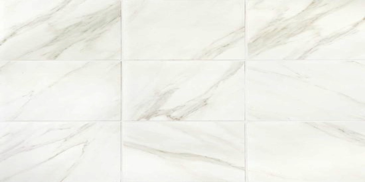 mirasol bianco carrara matte porcelain floor tile 12x24