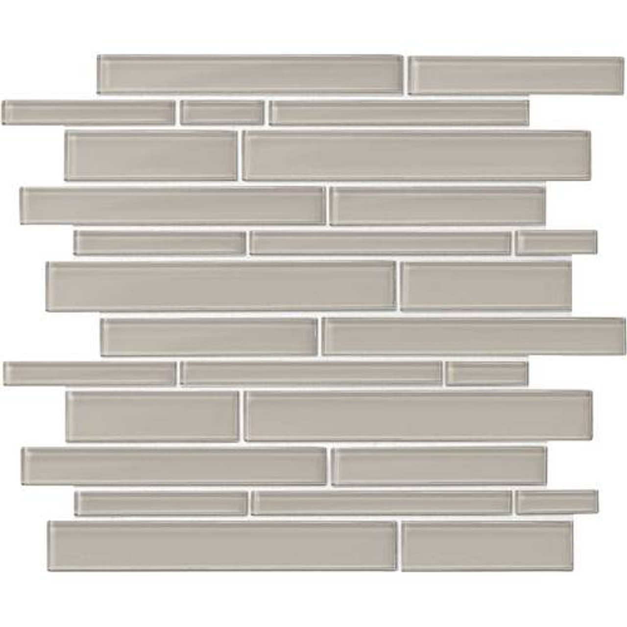 amity grey random linear glass mosaic 11 7 18 x 13 7 8 sheet