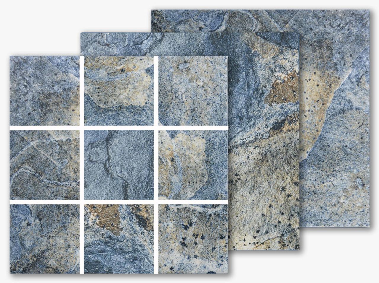 italian slate san marino 2x2 porcelain mosaic 12x12