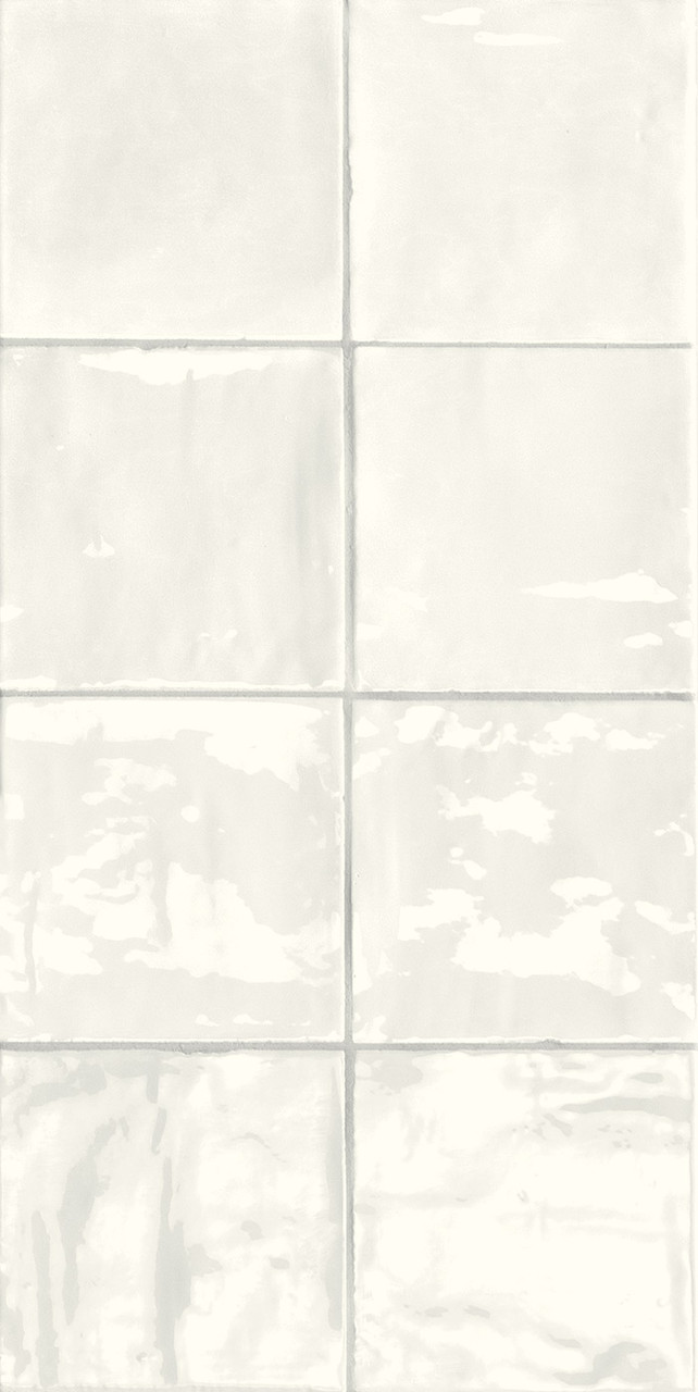 tsquare first snow glossy ceramic 6x6 wall tile
