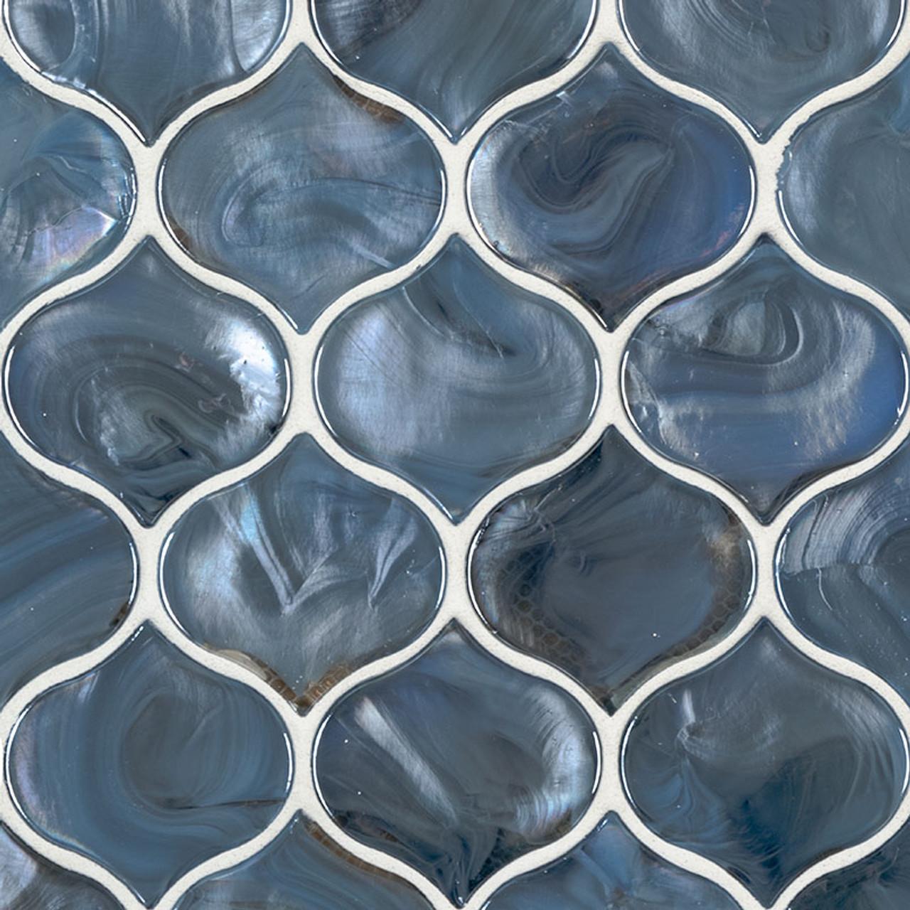 blue shimmer arabesque mosaic