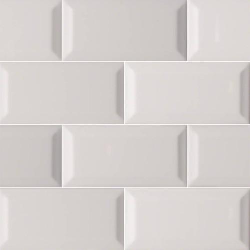 domino gray glossy inverted beveled