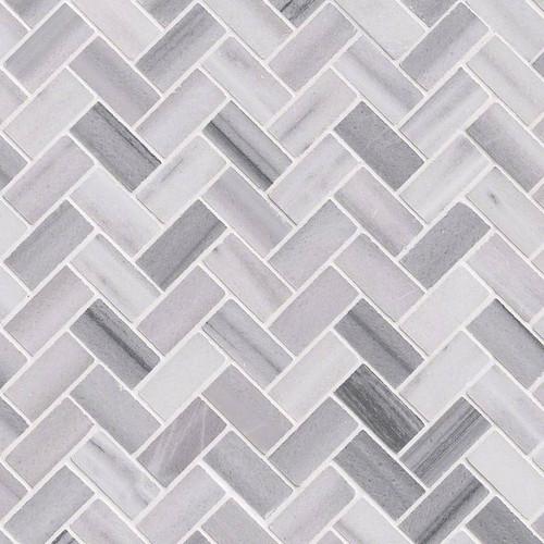 angora herringbone mosaic tiles
