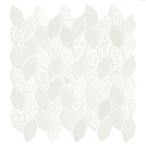 candora vestal white mixed finish marble linear leaf mosaic 11 3 16 x 12 1 4 sheet