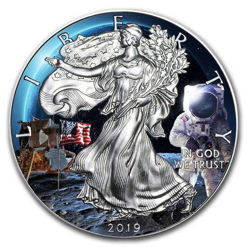 2019 MOON LANDING APOLLO 11 1 oz Silver Eagle Coin USA