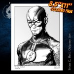 The Flash Coloring Page Odyssey Art Art Of Brian C Roll