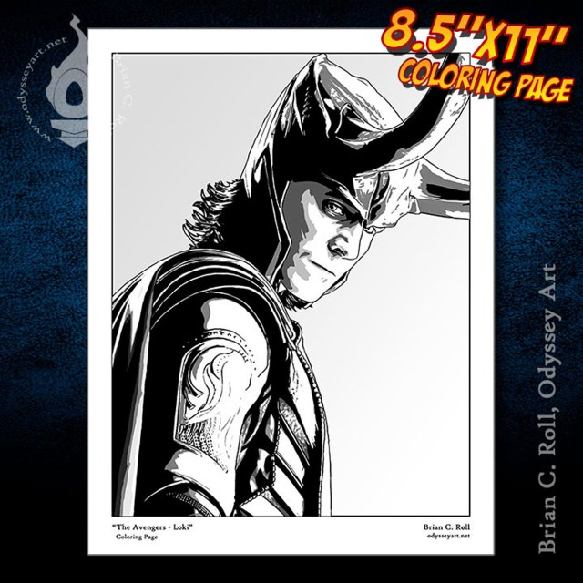 Avengers -Loki Coloring Page