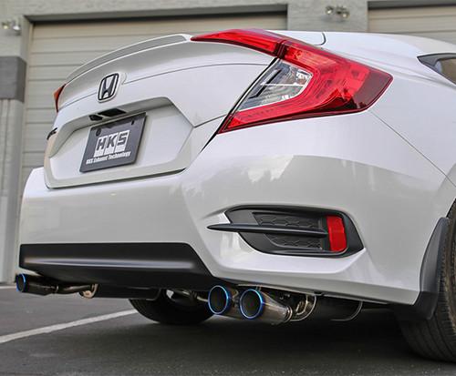 hks legamax exhaust system honda civic sedan 1 5t non si 2016 2020