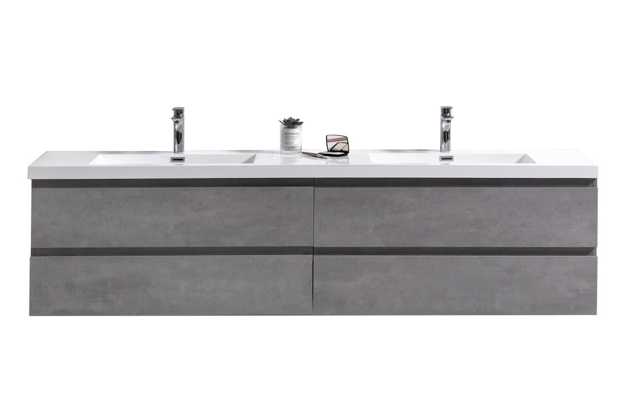 moreno mob 72 double sink concrete grey wall mounted modern bathroom vanity with reeinforced acrylic sink