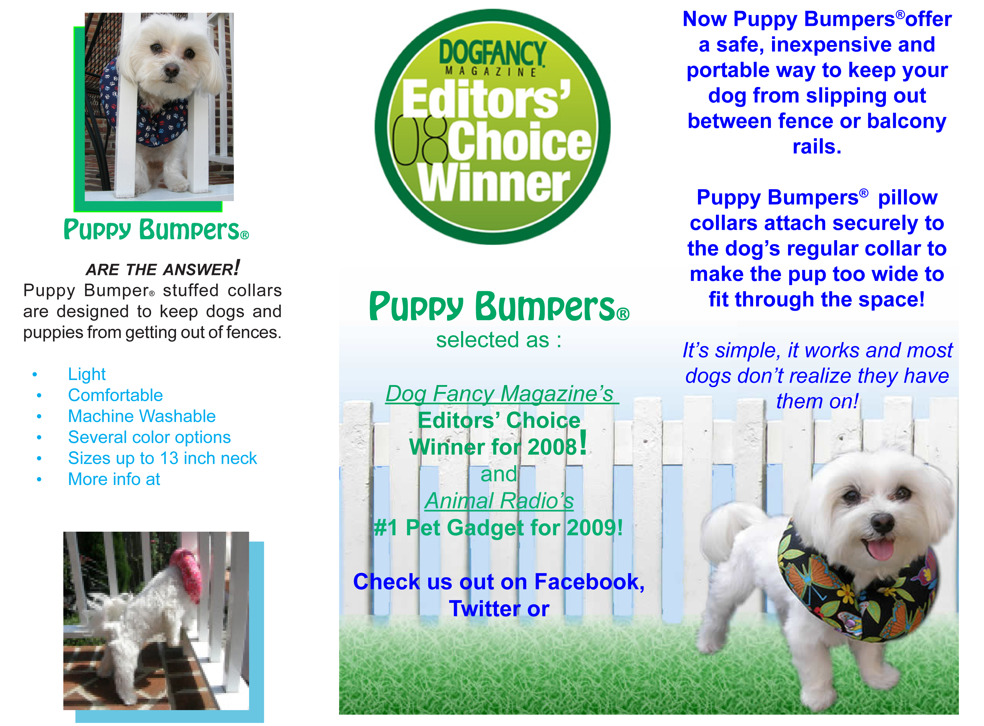 puppy bumpers dog safety pillow collars to prevent escapees