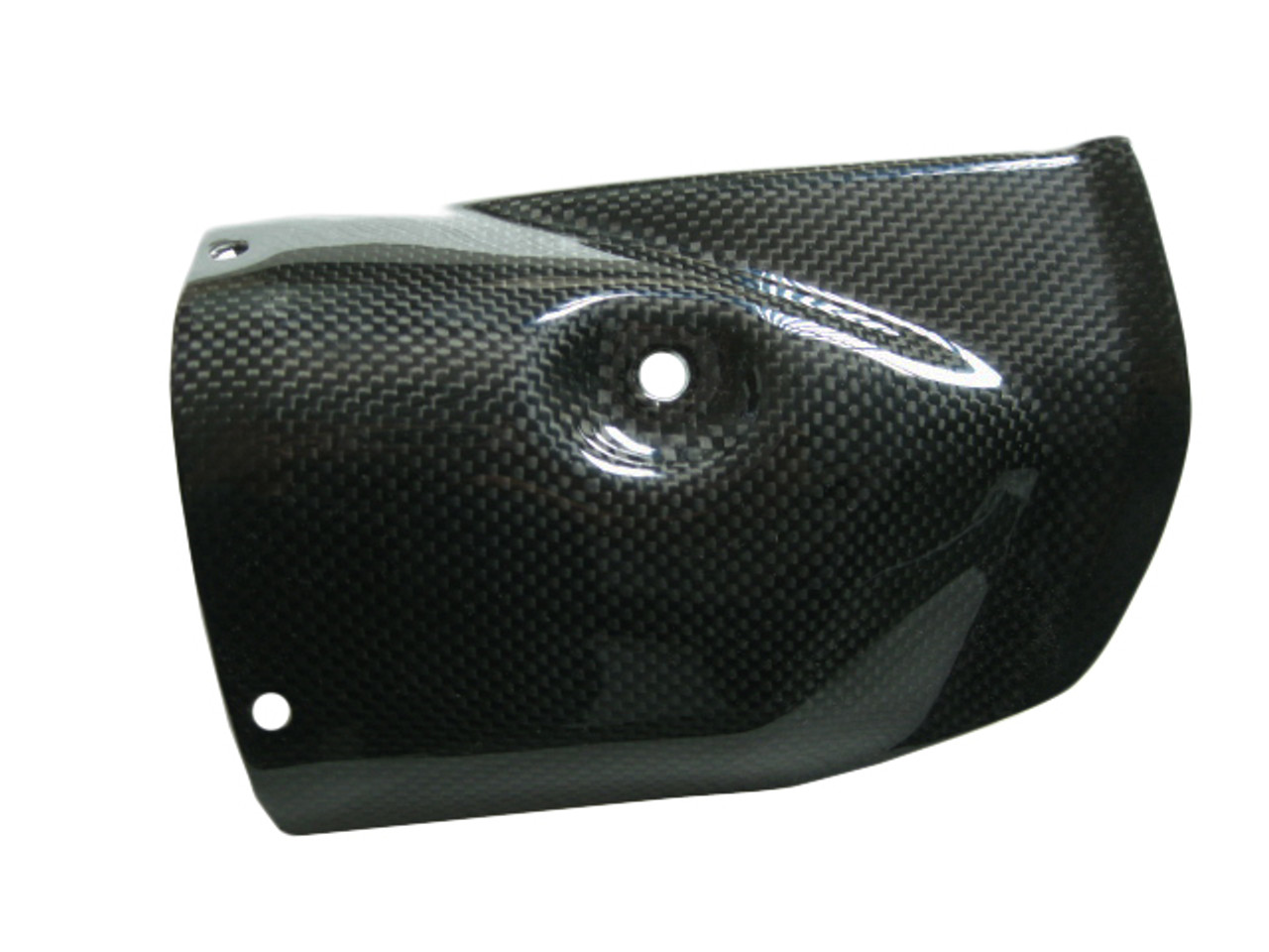 heat shield exhaust heat foil inside in carbon with fiberglass for yamaha r6 08 16