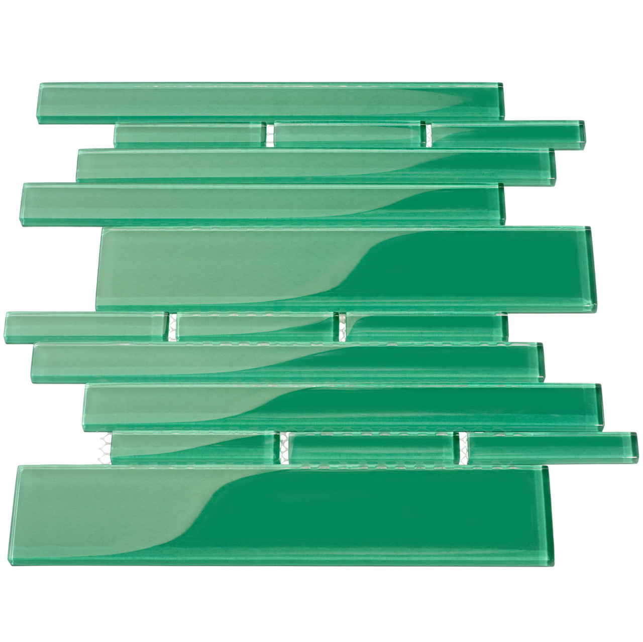 club collection glass tile emerald green