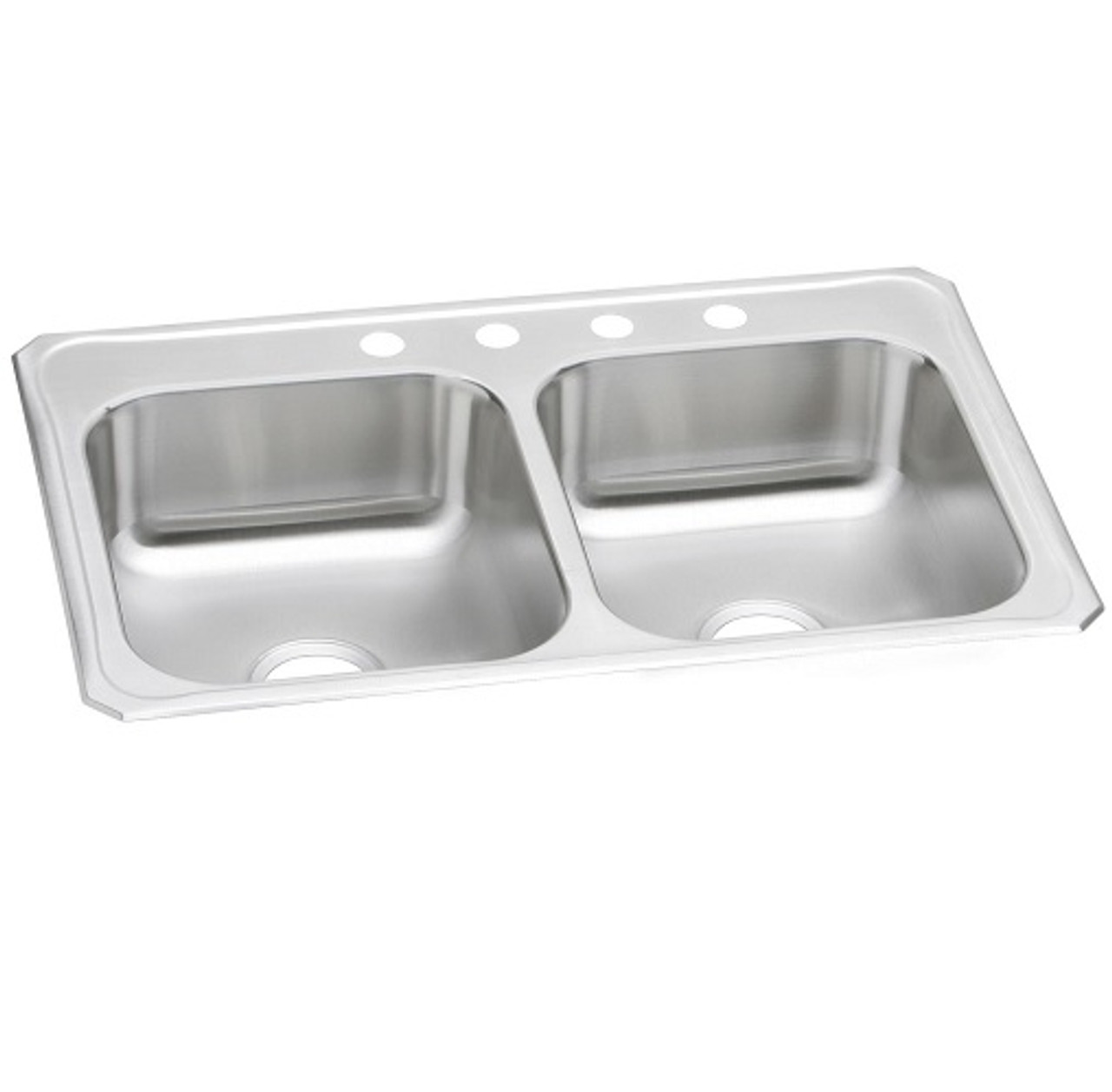 elkay cr3322 celebrity stainless steel 33 x 22 x 7 equal double bowl drop in sink