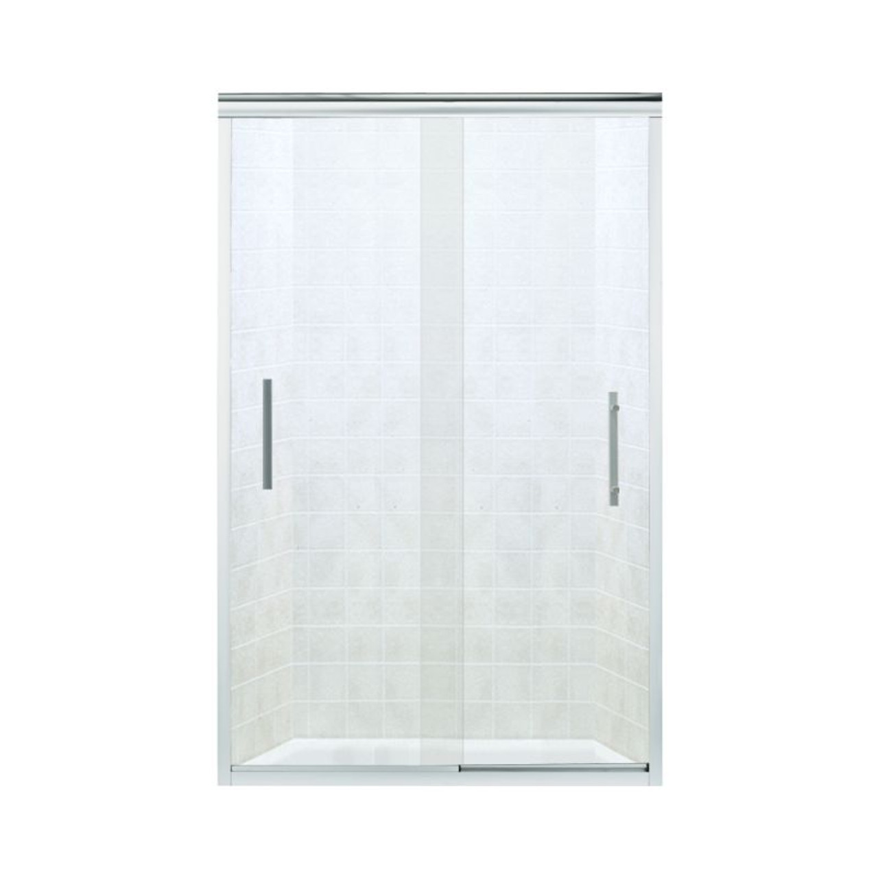 Sterling 547808 48s G05 Finesse 44 625 To 47 625 In X 70 0625 In Frameless Sliding Alcove Shower Door With Clear Glass