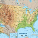 United States Physical Map Wall Mural From Academia